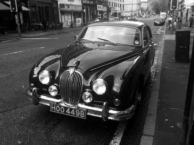 Photo: Jaguar car in Gibson Street.