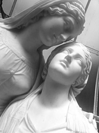 Photo: Kibble Palace statues, Glasgow West End.