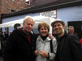 Photo: Michael Dale Festival Director with his wife Freddy and Jim.
