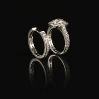 Photo: oval cut pave wedding bands.