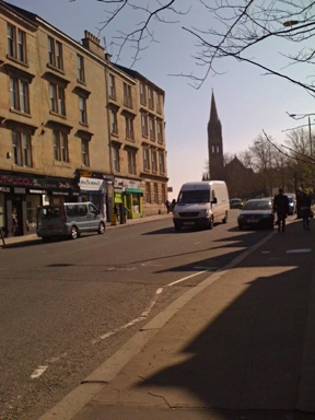 Photo: Woodlands Road Glasgow West End.