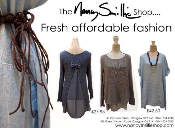 <h5>Fresh affordable fashion at the Nancy Smillie Shop</h5>