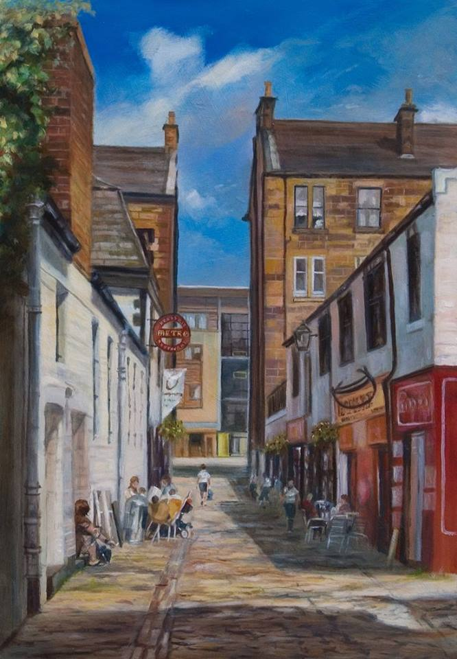 <h5>Allan's Art</h5><p>You'll love Allan Richardson's local city scenes.</p>