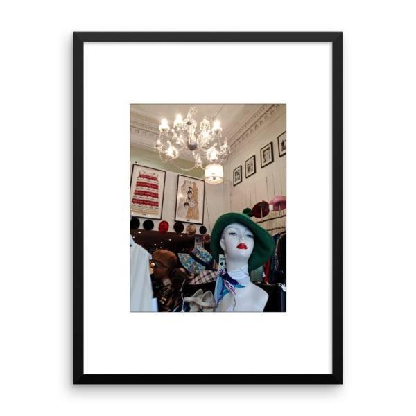 Framed Print: Vintage shop Byres Road