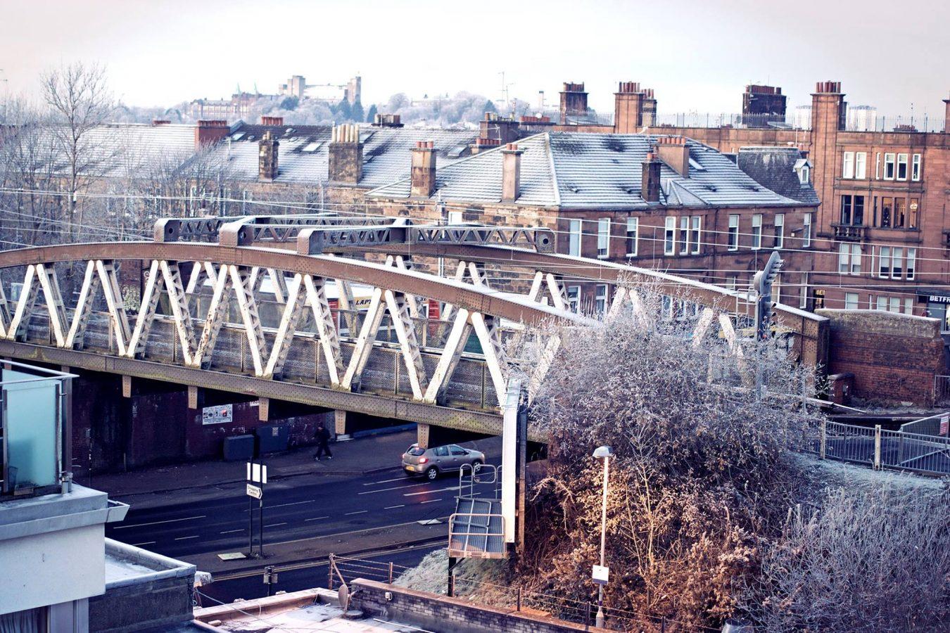 Anniesland Tenements and Railway Bridge