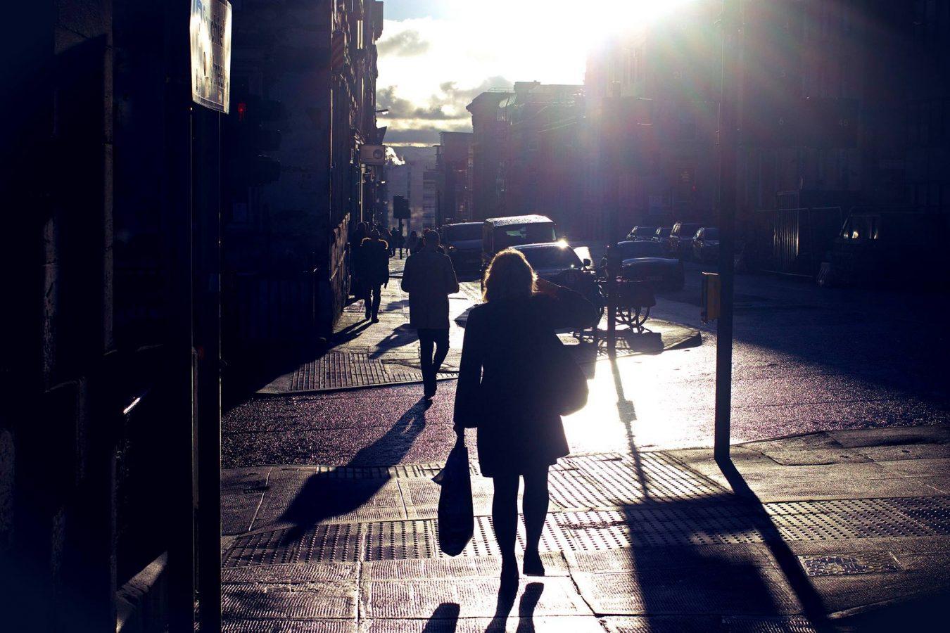 Low sun in Glasgow
