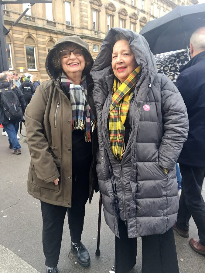 With Pat at George Square, Independence rally