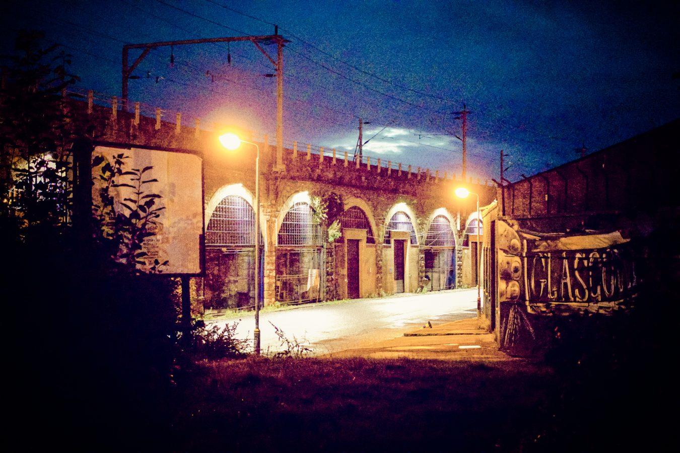 Night scene Glasgow