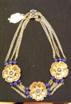 necklace blue gold