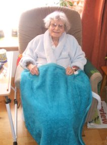 mary in chair.Castle Douglas Nov 2013 033