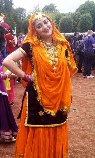 mela gir orange sari