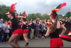 red and black dancers