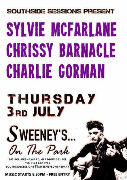 sweeneys on the park 3 july