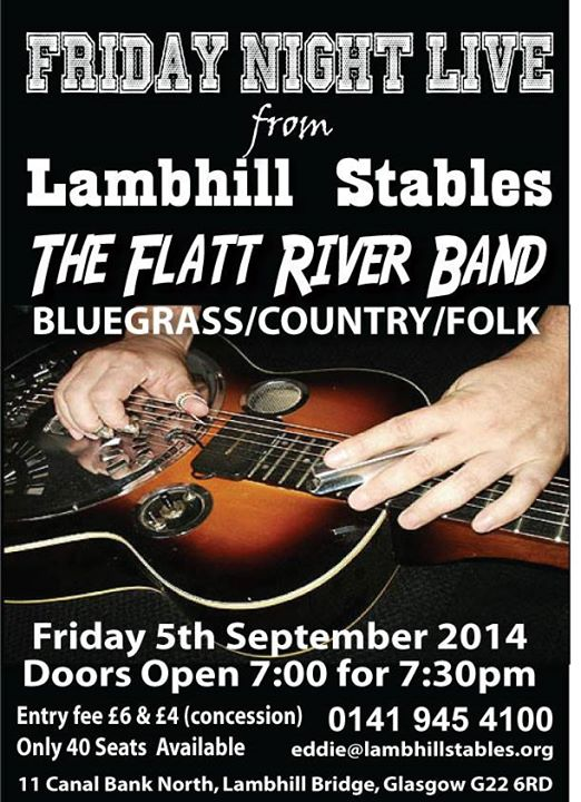 Flatt River Band Poster Lambhill