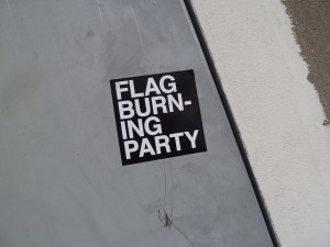 flag burning party