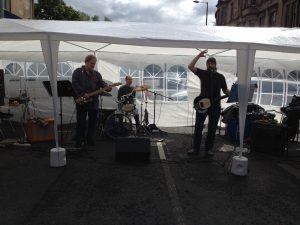 Queen Margaret Street Party Mothers Ruin band
