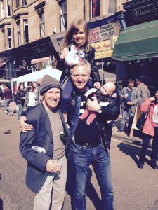Jimmy Byrne, David Rogers at Queen Margaret Street Party