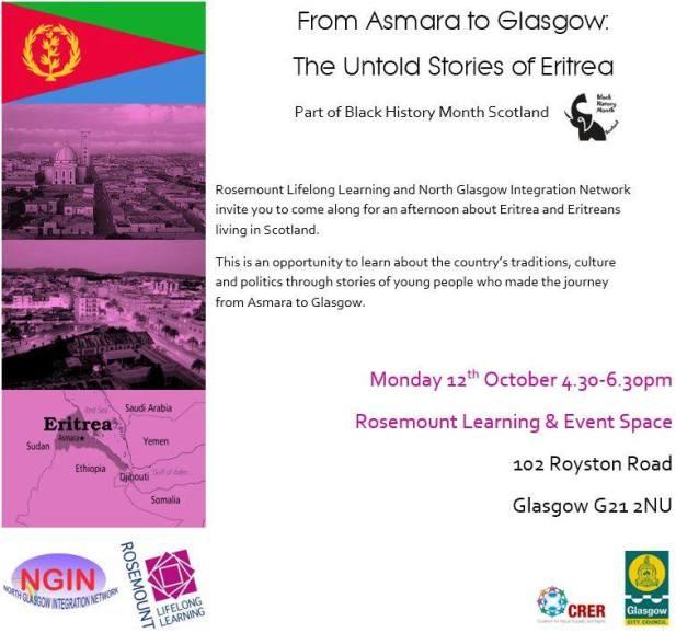 Rosemount Lifelong Learning – From Asmara to Glasgow- Untold Memories of Eritrea