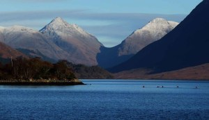Kayakers. Loch Etive and Glen Etive