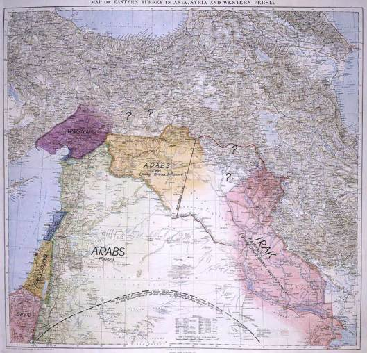 Lawrence of Arabia's Mid-East map
