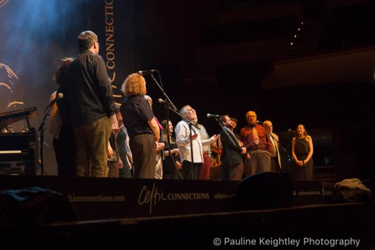 Singers at the Carryng Stream opening concert at Celtic