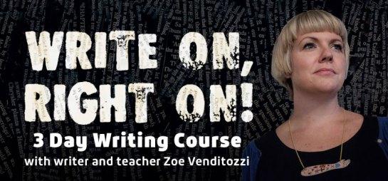 write on right on zoe venditozzi