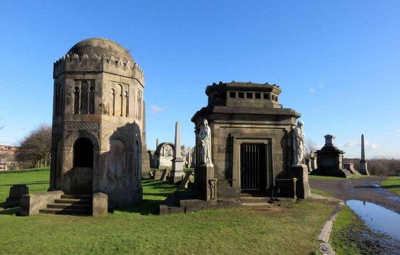 Sunshine After Rain. Glasgow Necropolis