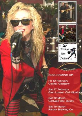 shoot the craw clutha bar friday 12 February