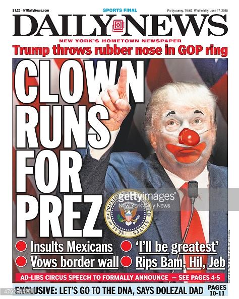 Trump the cartoon clown