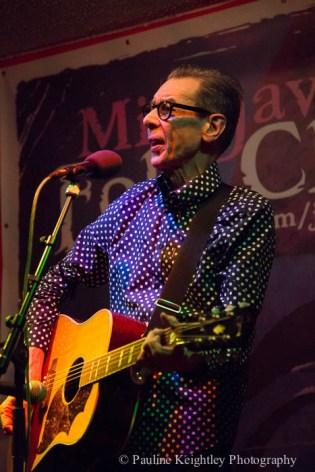 ab Nokes, Scottish singer songwriting, performed at Milngavie folk club. Febrary 2016 Scotland.