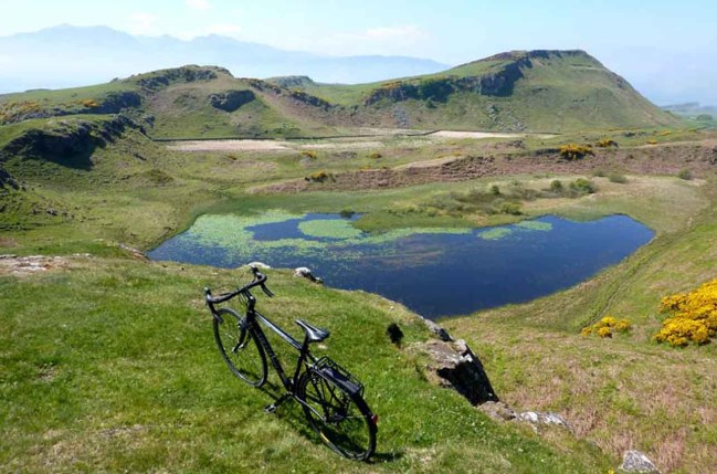 Loch Na Leighe and Bike. The Beauty of Bute