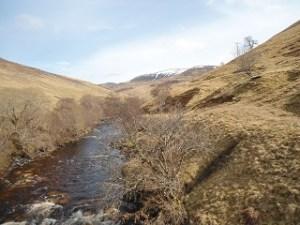 Pilochry Glen Tilt to mountains