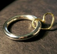 gold ring with heart