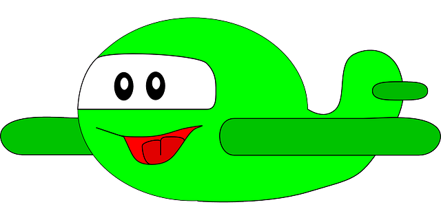 green-paper-outline-happy-cartoon-airplane