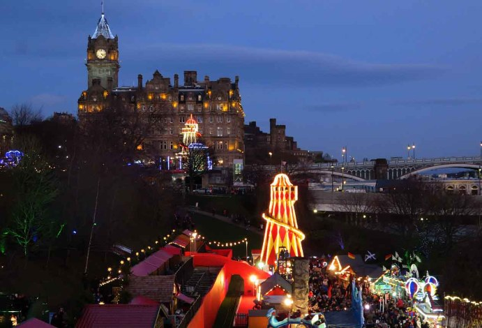 Edinburgh's Princes Street Garden Lights
