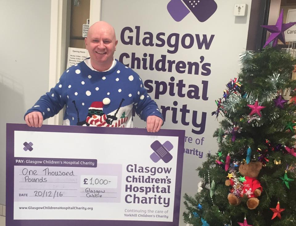 glasgow childrens charity glagow cabbie