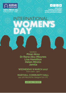 al kair glasgow international womens day
