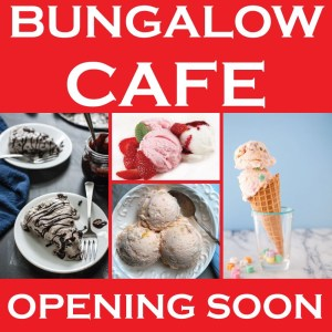 bungalow cafe poster