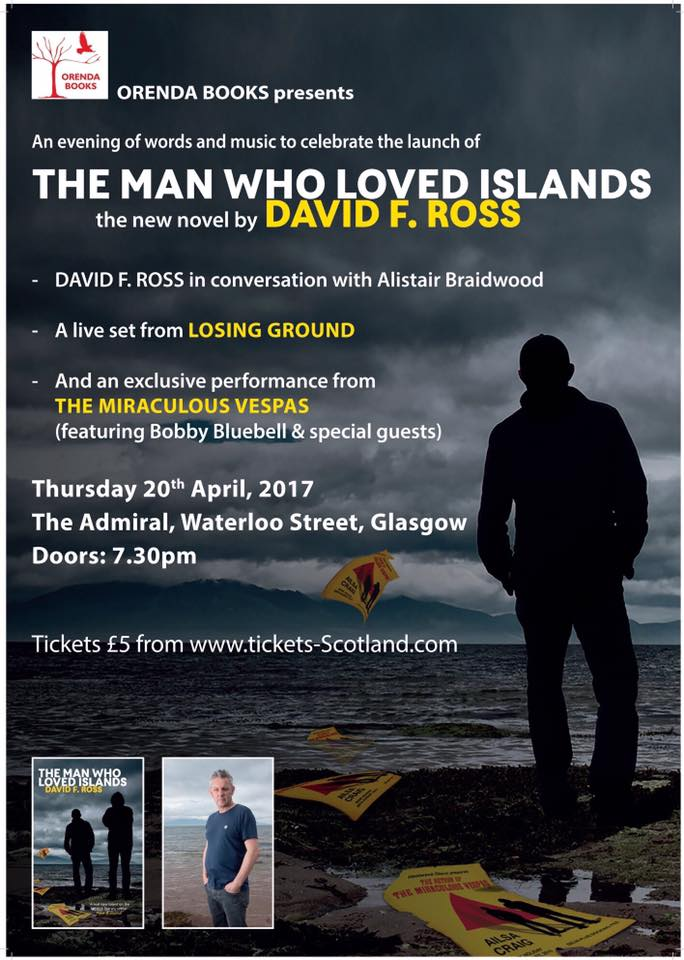 On Thursday night, we'll be doing this...with Bobby Bluebell, Alistair Braidwood, Losing Ground and Dave Ross. Hope to see you there.