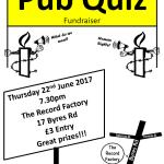 Glasgow Amnesty International Charity Pub Quiz, 22 June, 2017
