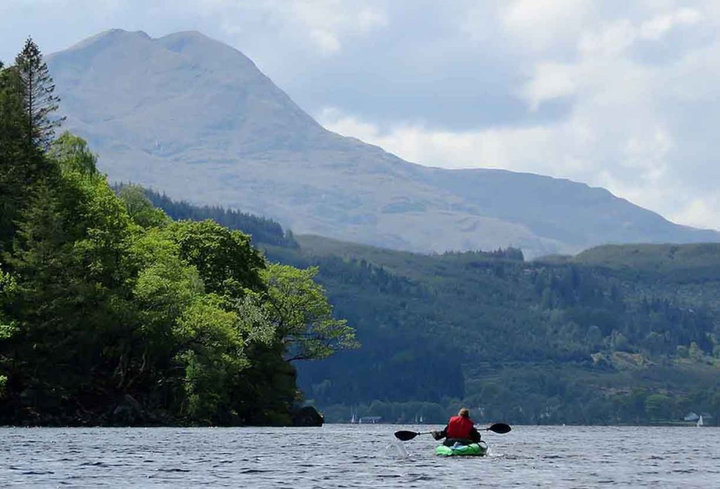 Ben Lomond Looking Big. Loch Ard