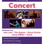 Fundraising Concert for Alzheimer Scotland, Stereo Cafe Bar, 19 August, 2017