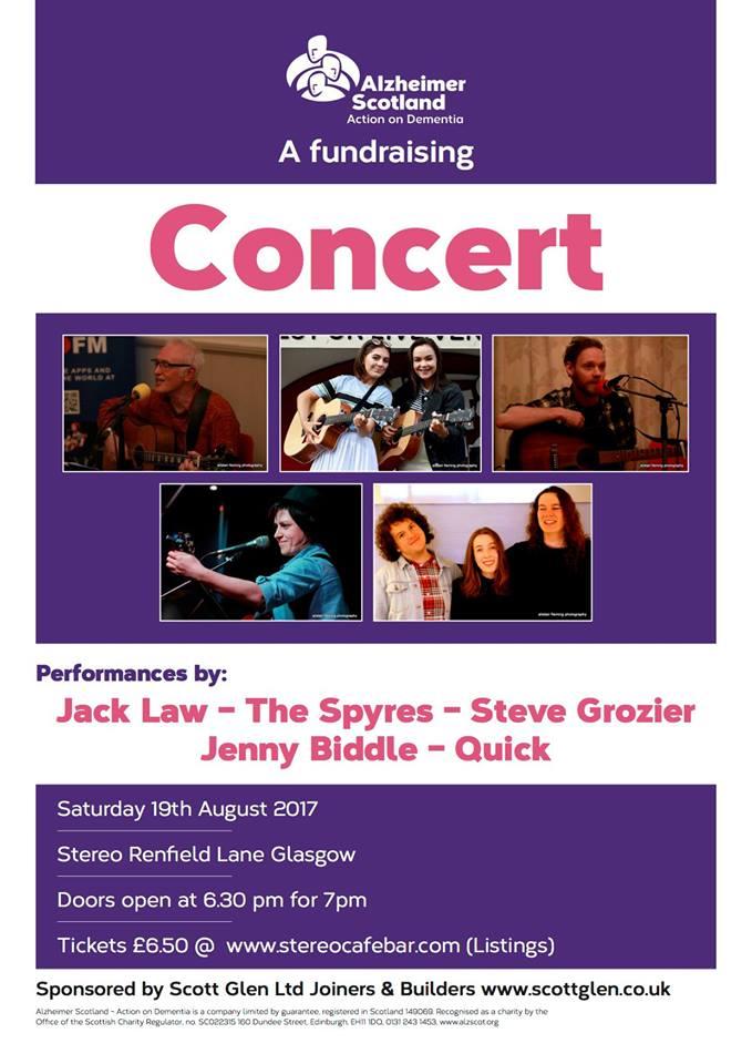 fundraising concert for alzheimer scotland