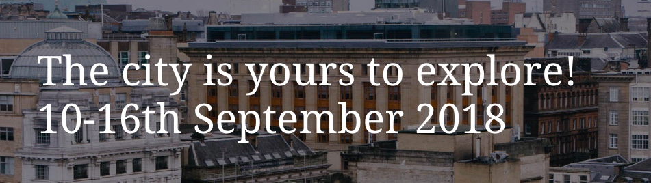 the city is yours 10 - 16 September, 2018