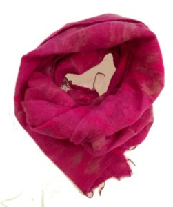 bright pnk scarf