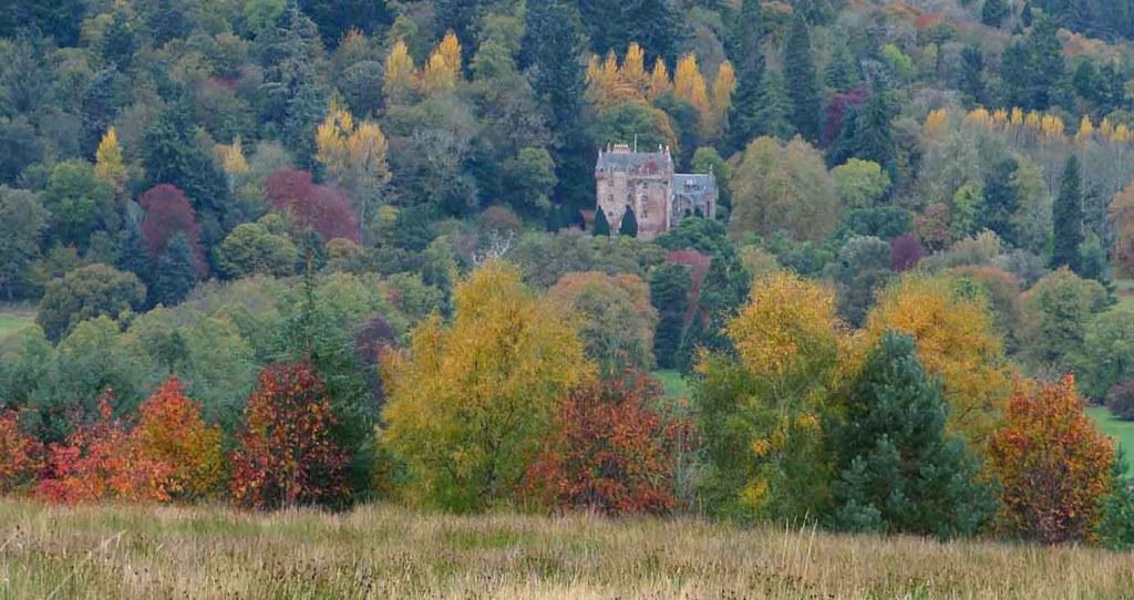 Autumn Colours. Castle Leod. Strathpeffer in October