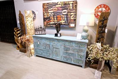 green sideboard