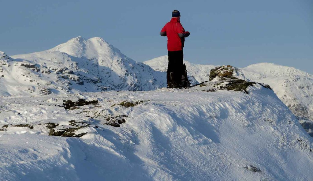 Scotland's Peaks in Winter. Cnoc Coinnich above Lochgoilhead.