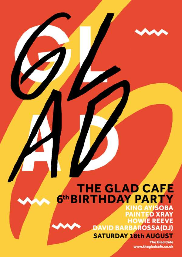glad cafe birthday party