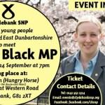 Young People invited to Meet Mhairi Black M.P., Clydebank